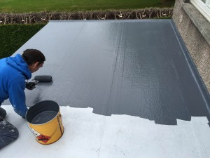 project installing grp roofing in altrincham