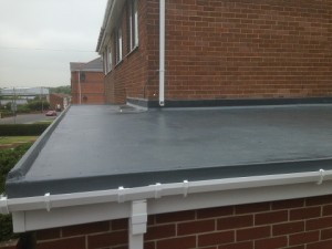 recent installation for grp roofing in altrincham on finchley road