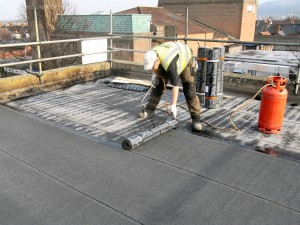 project showing our roofer installing felt roofing in altrincham