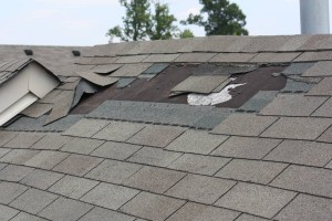 image shows roof repair in altrincham