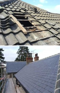 recent contract for roof repairs in altrincham after high winds