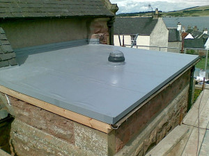 recent installation of single ply flat roofing in altrincham at bowdon church