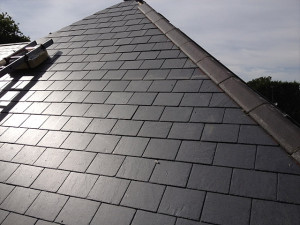 slate roofing in altrincham project - image shows a completed roof job we did last year